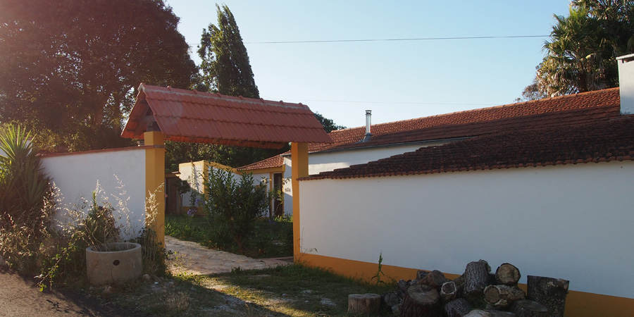 Vingård nära Caldas da Rainha finns, här Farm Holidays Silver Coast