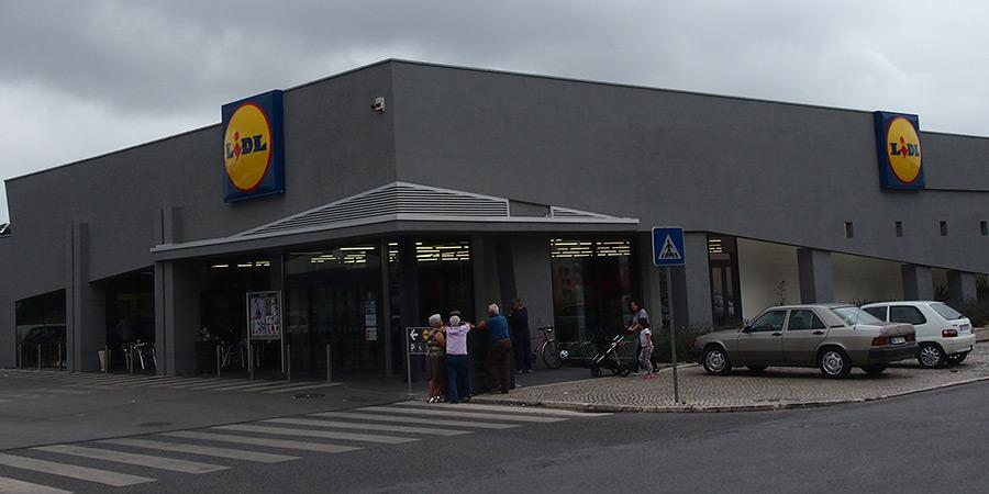 Tyska kedjan Lidl är en av många livsmedelsbutiker i Caldas da Rainha.