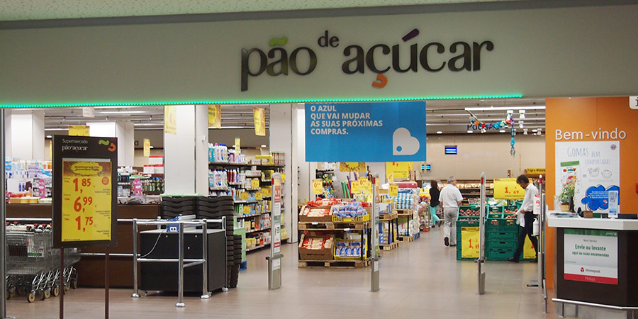 Pão de Açúcar är en av många populära matbutiker i Caldas da Rainha som ligger på källarplanet i shoppingcentret La Vie.