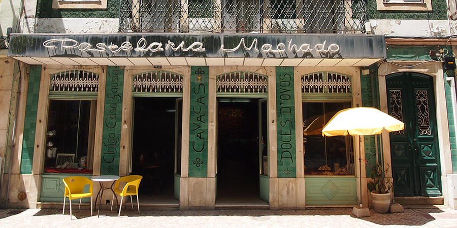 Pastelaria Machado är ett av de äldsta kaféerna i Caldas da Rainha
