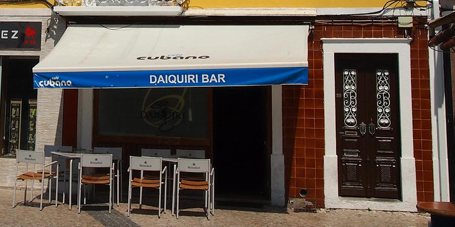 Daiquiri Bar är ännu en av många populära barer i Caldas da Rainha