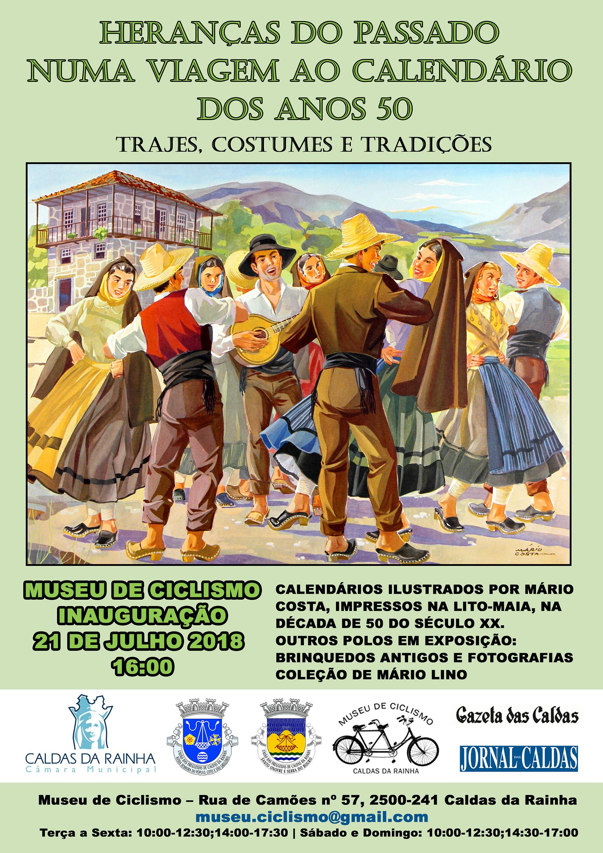 Utställning på Museu do Ciclismo i Caldas da Rainha