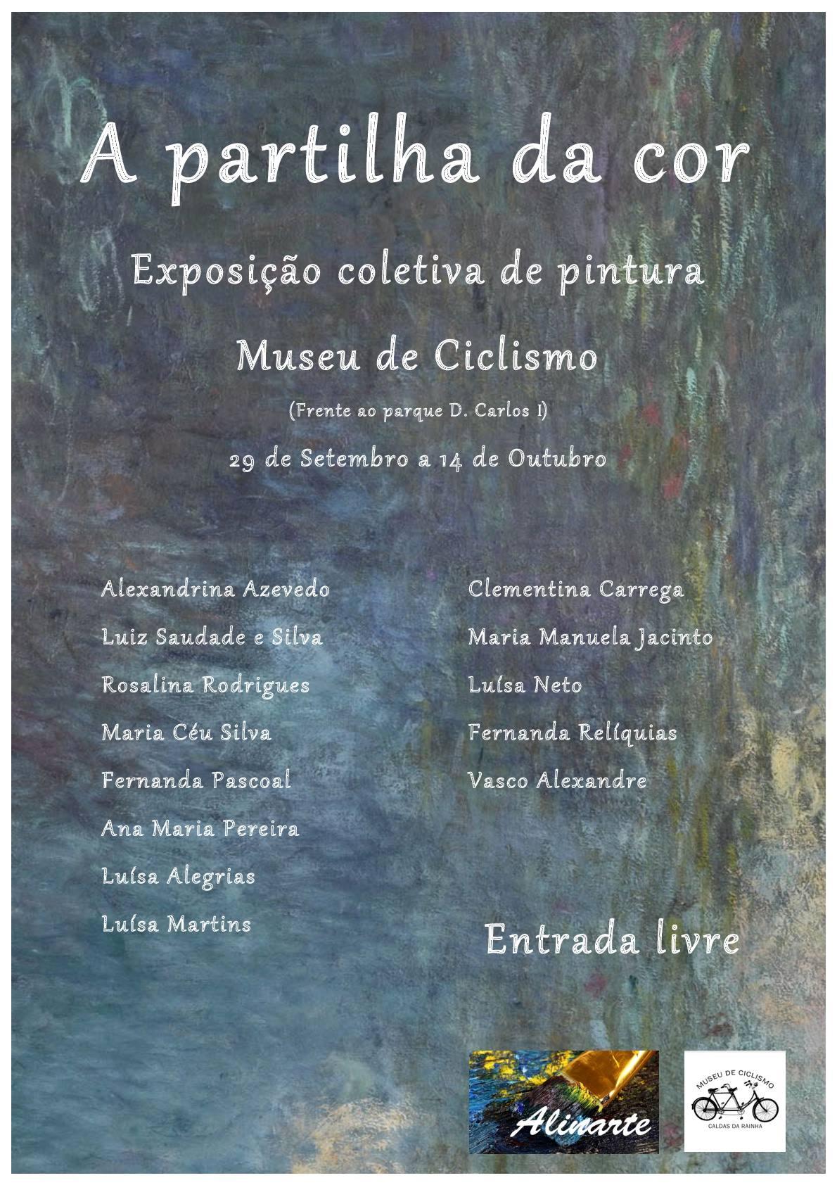 Utställning med målningar på Museu do Ciclismo i Caldas da Rainha