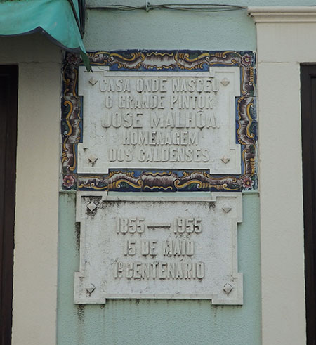 José Malhoas födelsehem i Caldas da Rainha