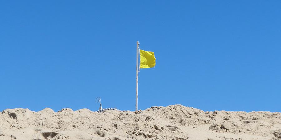 Praia do Mar flag Visit Caldas da Rainha